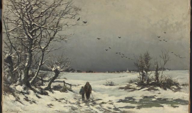 Joseph Coosemans was een van de grootste pleitbezorgers van Genk als de ideale plek om te schilderen. Het Winterlandschap in de Kempen komt uit de collectie Barat-Venker.
