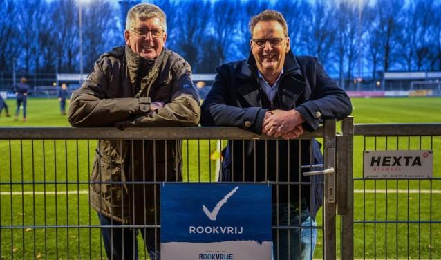 Gerard Haverkamp en Ronald Hendricx werden voor Alphen Magjezien 3 geïnterviewd in het kader van de rookvrij geworden voetbalclub Alphense Boys.