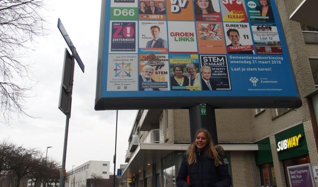 Ook Nikki van Staden weet nog niet op wie ze gaat stemmen. Foto: Britt Henneken.