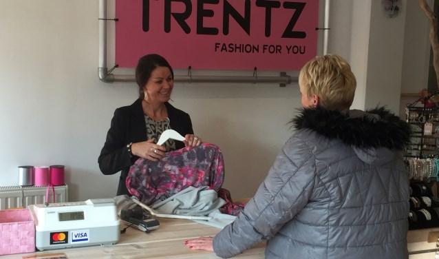 Kimberly Klaassen heeft in haar modezaak Trentz oog voor mode en uitstraling voor dames met een maatje meer.