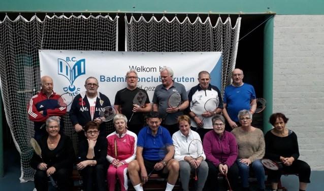 De woensdagmiddaggroep van Badminton Club Druten.
