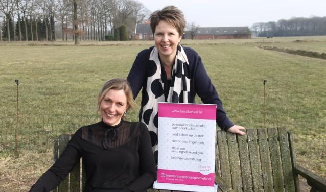 """Desiree Heerdink en Heidi Schreurs herstartten vorig jaar het lotgenotencontact voor borstkanker patiënten:  """"Het is prachtig om dit werk te mogen doen."""""""