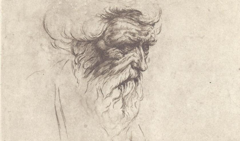 Ets van Oudemannenkop van Anton Pieck. Is deze ets geïnspireerd door Rembrandt?