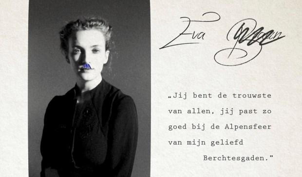 De voorstelling heet 'Eva Braun', naar de minnaresvan Adolf Hitler. Foto: Dina Dressen