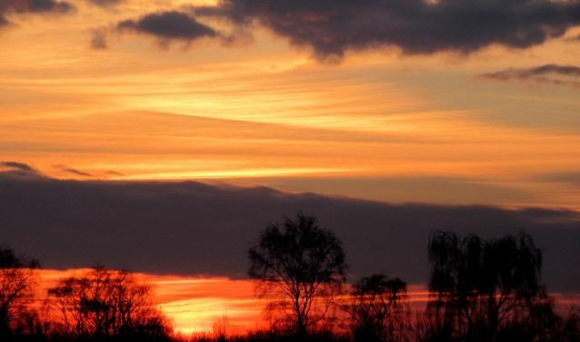 De zonsopgang, prachtig vastgelegd door onze weerman Tonny Morsink.