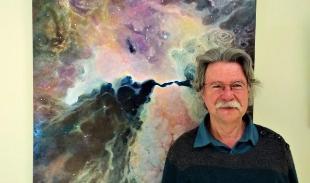 Willem Glaudemans: ''Een boek met foto's van de Hubble telescoop inspireerde mij. Daar zat zóveel diepte in. (Foto: Cees Paul)