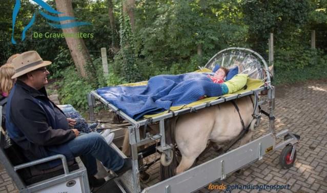 Een deel van de opbrengst komt ten goede aan het aangepaste paardrijden. Foto: Mijke Derks.
