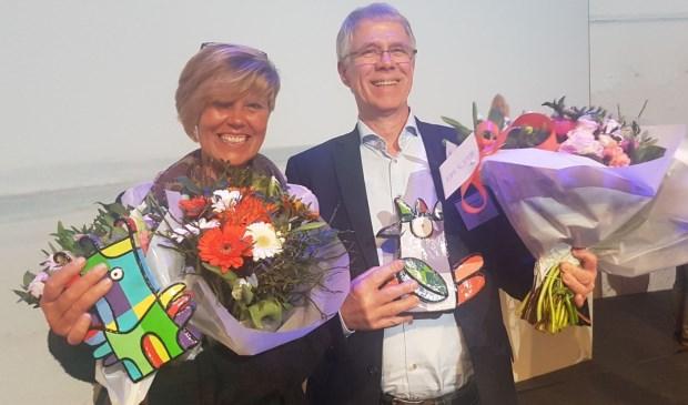 Sonja van Muylwijk en Kees Heijblom waren erg verrast dat zij allebei de Planetree Persoonsaward in ontvangst mochten nemen.