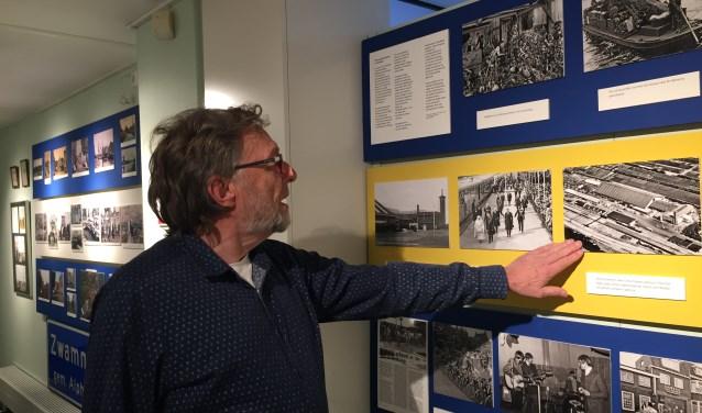 Rien Knop van de Historische Vereniging Boskoop en initiatiefnemer van de tentoonstelling.