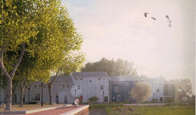 Woningbouw die aansluit bij de bestaande situatie. (illustratie Blokland/Synchroon)