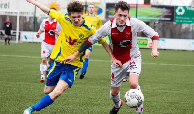 Vv Oene speelde afgelopen weekend tegen Hatto-Heim. De ploegen bleven in evenwicht; het werd 1-1. Foto: Gradus Dijkman