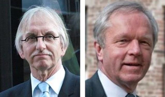 Hans Esmeijer (links) en Henk Jan Meijer gaan de coalitievorming in Almelo onderzoeken