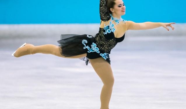 Michelle de Brouwer uit Valkenswaard op het ijs.