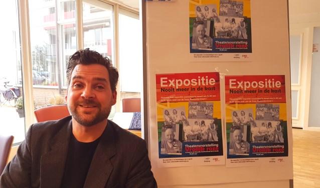 Erik van Rosmalen is projectleider van de expositie. (foto: Alie de Vries)