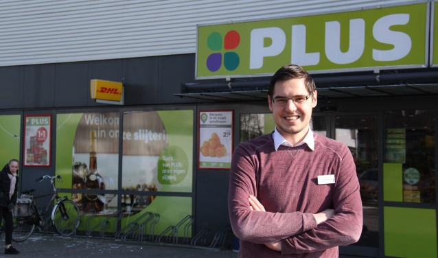 Harbrinkhoeker Rob Brughuis heeft zin in het nieuwe avontuur, hij mag zich sinds kort eigenaar noemen van PLUS Brughuis