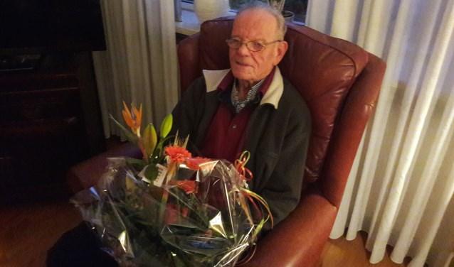 Bennie Wiggers toen hij 70 jaar lid van de KNDB was.