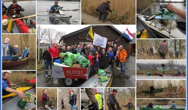 De vrijwilligers hebben een ongekende hoeveelheid afval verzameld.