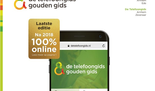 Op 1 maart viel na 140 jaar de allerlaatste Telefoongids en Gouden Gids op de mat. (foto: DTG)