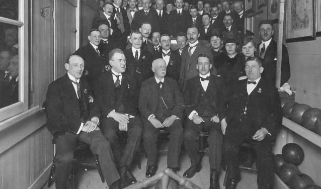 De Bossche Kegelbond in het oprichtingsjaar 1918.