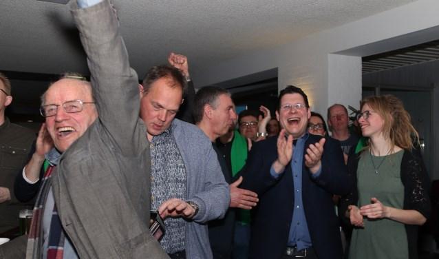 De vreugde was nog groot vlak na de uitslag. (foto: Angelina van den Broek)