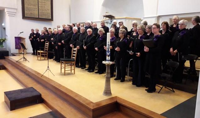 Op Palmzondag 25 maart verzorgde Het Kerkkoor Driebergen een uitvoering van de Marcus Passie.FOTO: Maarten Bos