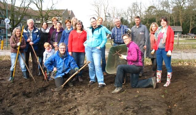 Vrijwilligers in actie in Amerongen.