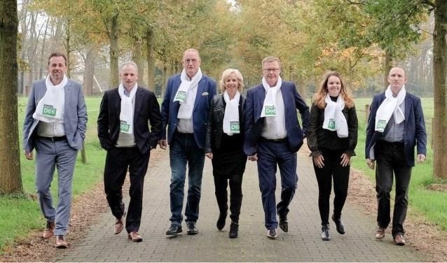 De fractie van D66 Dinkelland heeft zich goed voorbereid op de verkiezingen en voert met veel plezier campagne.