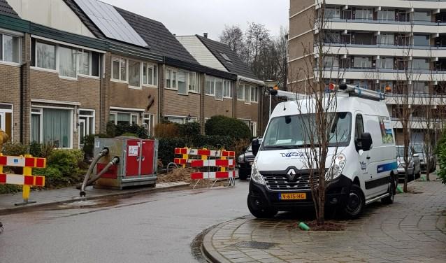 Als gevolg van een leidingbreuk zaten 37 huishoudens aan de Enkstein donderdag enkele uren zonder water.
