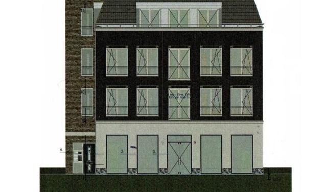 Een artist impression van de nieuwbouw van Unique. Boven de nieuwe winkel komen huurappartementen.