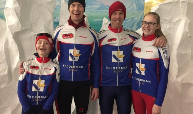 Koen en Tijnis Verhoeff, Paul Johan en Marit van Andel op de jaarlijkse clubkampioenschappen.