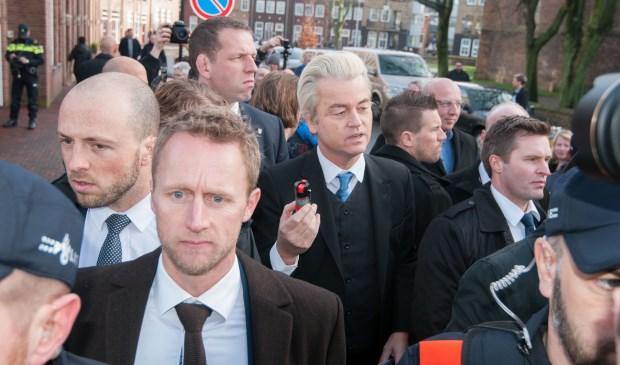 Geert Wilders tijdens een bezoek aan Spijkenisse twee jaar geleden. Foto: Ropa Photo