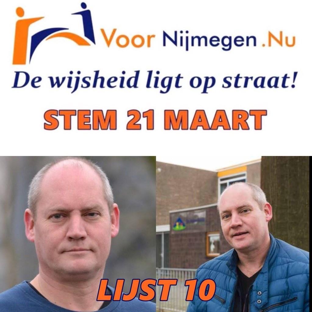 Paul Eigenhuijsen, lijsttrekker van lijst 10: Voor Nijmegen.NU