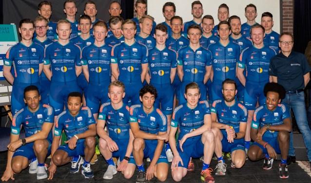 Het Elite-Beloften team telt zeven Nijmeegse talenten. (Foto Marijn Vink)