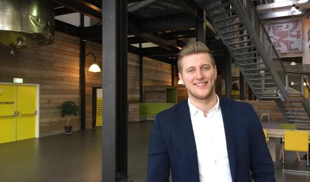 Max van der Sluys doet onderzoek naar de beleving bij de Dutch Innovation Factory. Foto: PR