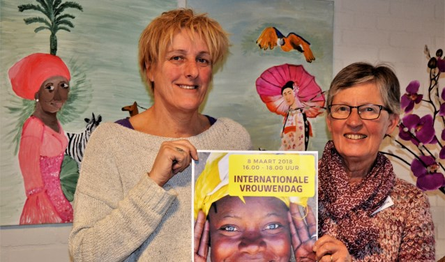 Gemma Cornelissen en Joep Mes zijn klaar voor de vrouwenmiddag in Beuningen. Het is 8 maart internationale vrouwendag.