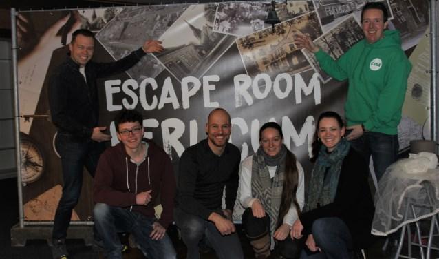 Met hulp van vrijwilligers is in een leegstaand winkelpand in Berlicum de escape room gratis te bezoeken is. Foto: Wendy van Lijssel