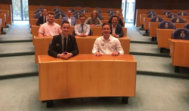 JongDMP bezocht op 12 april de Tweede Kamer.