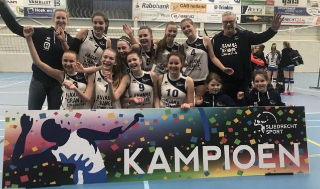 Sliedrecht Sport Meisjes A1 kampioen. (Foto: Privé)