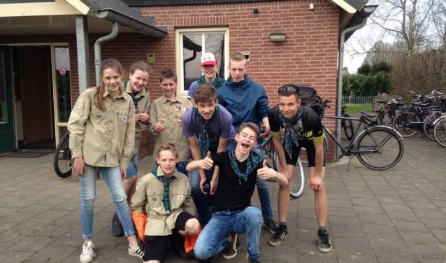 Een van de deelnemende teams van Scouting Winssen. FOTO: Scouting Winssen