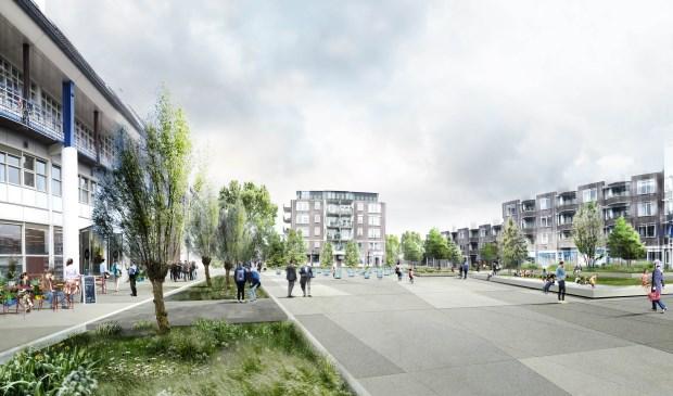 'Leerdam' koos na drie weken stemmen voor het ontwerp met de grote tegels.