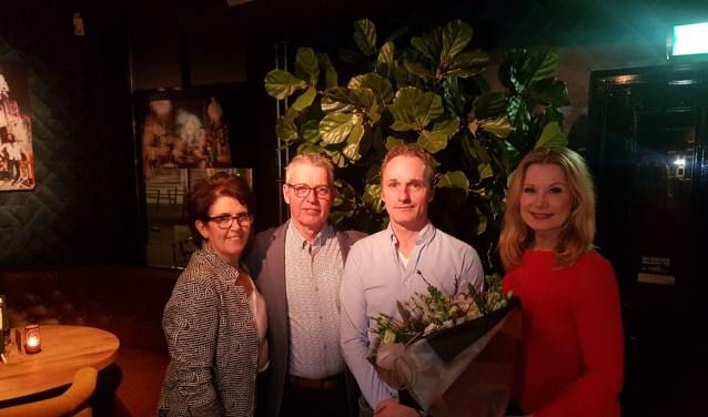 Eric en Karin Lefering met Piet en Esther Legro