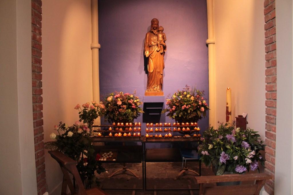 De Mariakapel van de oude Petruskerk is bewaard gebleven. Foto: Lisette Broess © Persgroep