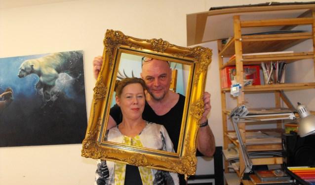 Dennis en Patricia Sierhuis van Roij wonen en werken aan de Von Heijdenstraat. Tekenen en schilderen is hun specialisme.