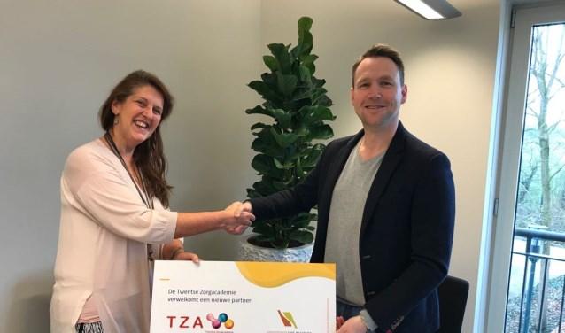 Anneke Bouwmeester van Zorggroep Sint Maarten voelt zich welkom bij Eric Wolkottes TZA.