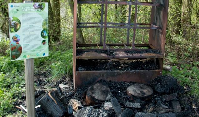 Vandalisten houden huis in Natuurtuin Westerpark/