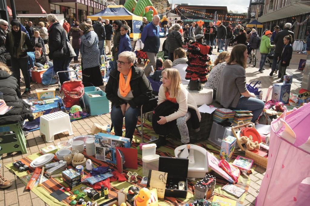 De vrijmarkt is ook dit jaar een onderdeel van de Koningsdagviering in Westervoort.