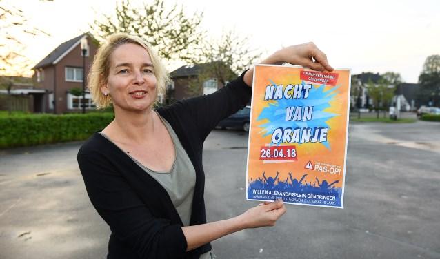 Janine Kock van de Oranjevereniging Gendringen. (foto: Roel Kleinpenning)