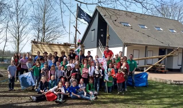 De piraten van Scouting MBG in Waalwijk.