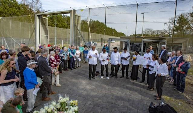 De opkomst was groot zondagmiddag 8 april 2018 de 150e Wake plaats bij het Detentiecentrum Zeist. FOTO:Fred Manschot