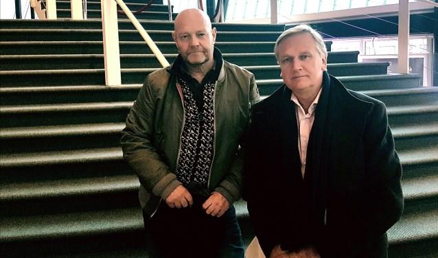 De initiatiefnemers van de benefietavond: Joost Konings (links) en René van Zanten.